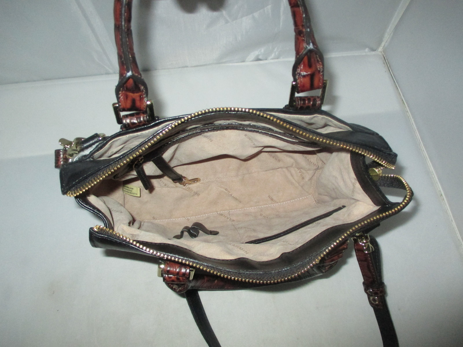 Brahmin Tuscan Tri-Texture Anywhere Convertible Satchel, Shoulder Bag,Tote $255 image 7
