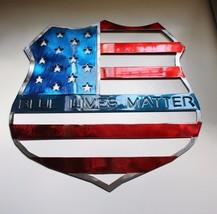 """'Blue Lives Matter--Red White & Blue Metal Wall Art 16"""" x 14"""" - $49.99"""