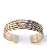 Vintage Sterling Silver Cuff Bracelet - $76.49