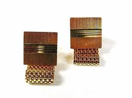 1970's Gold Tone Wrap Around Cufflinks By DANTE 81316 - $34.99