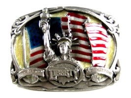 1985 The Flame of Freedom Statue of Liberty Brass Belt Buckle by Bergamo... - $18.99