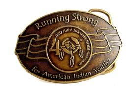 Billy Mills Running Strong 40 10K Gold Medal Belt Buckle 12042013 - $24.99