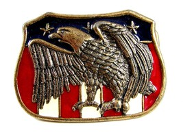 Red White & Blue & American Eagle Belt Buckle 62514 - $24.99