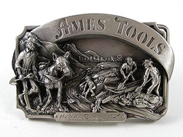 1985 Ames Tools Gold Rush of 1849 Belt Buckle By SISKIYOU 91616 - $24.99
