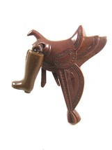 Western Cowboy Early Plastic Saddle / Boot Brooch - $18.99