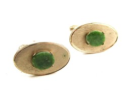 Goldtone & Green Cufflinks by Dante - $15.29