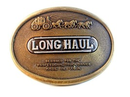 Vintage Long Haul Belt Buckle for Professional Truckers Made in U.S.A. - $34.99