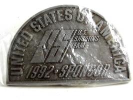 U.S. of A. 1992 Sponsor US Shooting Team Belt Buckle 82814 Mint in Plastic - $22.99