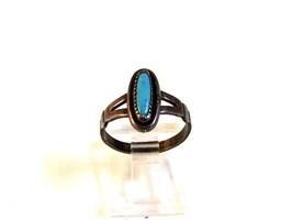 Vintage Native American Bell Trading Post Sterling Silver Turquoise Ring... - $54.99