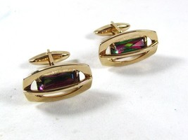 Gold Tone & Watermelon Sparkly Cufflinks By S In Shield 52116 - $36.99