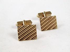 Vintage Gold Tone Cufflinks By SWANK 92316 - $20.69