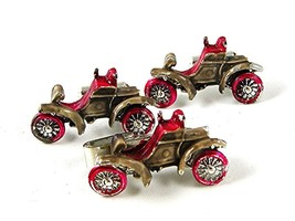 Silver Tone Red Roadster Jalopy Car Auto Cufflinks & Matching Tie Clasp ... - $22.49