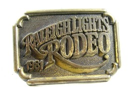 1981 Raleigh Lights Solid Brass Belt Buckle Unmarked 092914 - $14.99