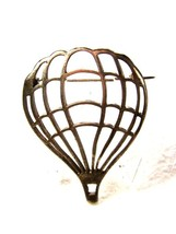 Vintage Up Up & Away Sterling Silver Hot Air Balloon Brooch Unbranded 7215 - $32.99