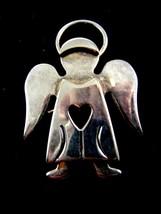 Silvertone Angel Heart Brooch / Pendant by Best 8614 - $19.99