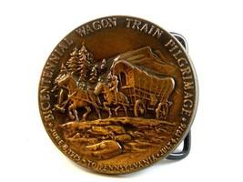 1975 - 1976 Bicentennial Wagon Train Pilgrimage Belt Buckle - $19.99