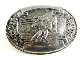 Western Rodeo Cowboy Bull Wrestling Belt Buckle Made in USA - $36.99