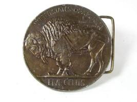 Vintage Buffalo Nickle Belt Buckle Unbranded 72216 - $24.99