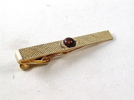 Vintage Gold Tone & Tiger Eye Clasp By SWANK 102516 - $24.99