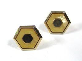 Vintage 1950's Goldtone & Lucite Cufflinks by SWANK 10115 - $29.69