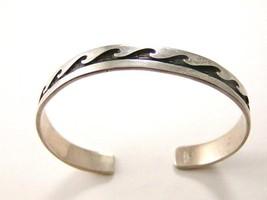 Vintage Native American Sterling Silver Cuff Bracelet - $124.99
