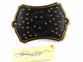 Drawn By In Seattle Black Belt Buckle By ED HARDY 33116 With Tag - $38.99