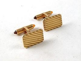 Vintage Classic Gold Tone Cufflinks By KREMENTZ 102616 - $40.49