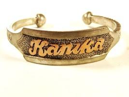 Vintage Sterling Silver & Gold KANIKA Bracelet Unbranded 7415 - $249.99