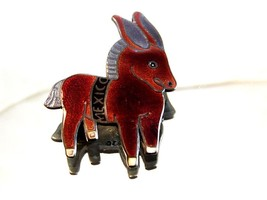 Mexican Sterling Silver Enameled Donkey / Burro Brooch by Margot  De Taxco - $450.99
