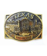 Texas Alamo Brass Belt Buckle By Heritage Mint ... - $40.49