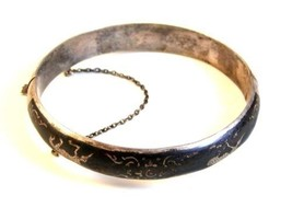 Vintage Siam Sterling Silver Niello Dancing Lady Bracelet - $114.99
