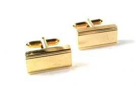 Goldtone Rectangular Cufflinks By S in A Shield 42616 - $19.99