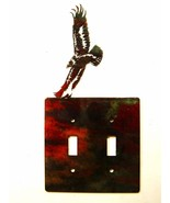 American Eagle Double Light Switch Cover Plate by Steel Images USA 030315GG - $34.99