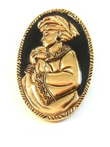 Vintage African American Mother & Child Brooch by Avon - $44.99