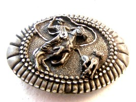 1993 Rodeo Cowboy Western Calf Roping Belt Buckle Made in USA - $31.49