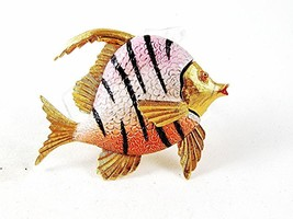 1950's -60's Gold Tone Pink Black Angel Fish Brooch By WEISS 102416 - $114.99