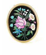 Vintage Gold Tone Micro Mosaic Flower Pendant By AVON 102416 - $18.99