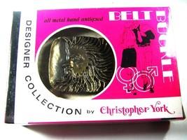 MIB 1970's Sun God Belt Buckle By Christopher York Designer 93015 - $24.99