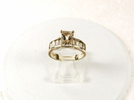 Sterling Silver Clear Sparkley Engagement Ring Size 7 By AVON 33116 - $24.99