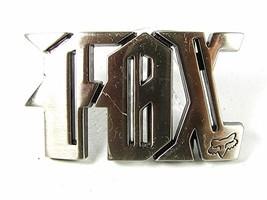 Brushed Silver Tone FOX Belt Buckle 81716 - $16.99