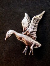 Danecraft Sterling Silver Goose Or Duck In Flight Brooch - $99.99