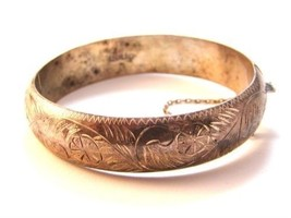 Vintage Siam Sterling Silver Bangle Bracelet - $82.99