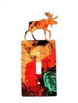 Moose Single Light Switch Cover Plate by Steel Images USA 6515TT - $24.99