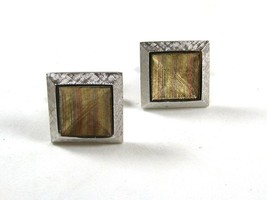 Dressy Silver Tone & Gold Tone Cufflinks by S in Shield 12215 - $24.99