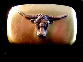 Vintage Cowboy Western Long Horn Belt Buckle Made in U.S.A. - $22.99