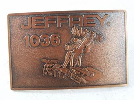 1970's - 80's Jeffrey 1036 Coal Cutter Belt Buckle Unbranded 4116 - $32.99