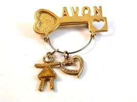 Vintage Avon Key Charm Brooch - $22.99