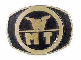 1970s-80s WMT World Mining Technology Belt Buckle By Dyna Buckle USA - $36.99