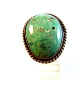 Vintage Native American Silver & Turquoise Ring Size 9 1/4 - $1.438,37 MXN