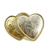 Ladies Silver Strike Entwined Hearts Western Belt Buckle 11142013 - $49.95